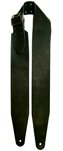 3.5 Wide Black Leather Guitar Strap