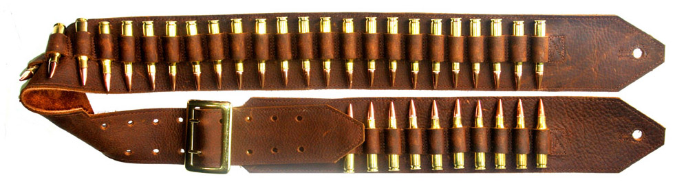 Brown Bandolier Guitar Strap