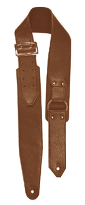 Brown D Ring Guitar Strap