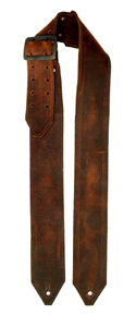 Plain Brown Leather Guitar Strap
