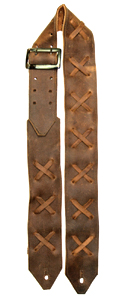 Brown Leather Guitar Strap X
