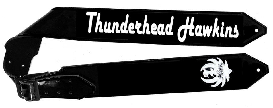 Hank Williams Jr Thunderhead Hawkins Guitar Strap