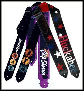 Logo &  Name Custom Guitar Straps